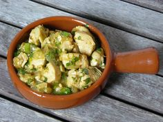 Tapas - Huhn in Weißweinjus - katha-kocht!