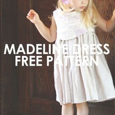 FREE pattern! This darling dress pattern has a unique layered bodice and surprise at the back where buttons are revealed...