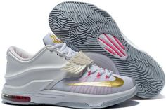 quality design 90c13 f7b42 Nike KD 7 All Star White Gold Pink Kd 7, Metallic Gold, White Gold