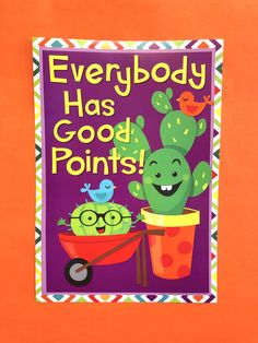 This is a great piece to tie your cactus themed classroom together! The poster also works for completing bulletin board ideas and classroom ideas. Inspirational Classroom Posters, Inspirational Phrases, Student Council Posters, School Posters, Preschool Themes, Classroom Themes, Eureka School, Fun At Work, Quotes For Kids