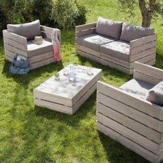 pallet seating outside - Bing Imágenes