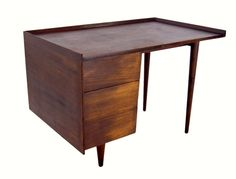 Mid Century Modern Jens Risom Dovetailed Desk for Knoll
