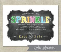 Baby Sprinkle Invitation PRINTABLE - Ice Cream Party - Diaper Shower - Couples Baby Sprinkle. $12.00, via Etsy.