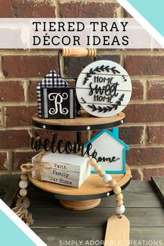Welcome to our first Tiered Tray Tuesday! If you love to decorate and you love tiered trays you are the in the right place! Tiered Tray Tuesday is wh Tray Styling, Styling Tips, Farmhouse Decor, Farmhouse Ideas, Farmhouse Style, Diy Presents, Beaded Garland, Diy Craft Projects, Diy Crafts