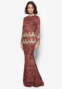 JLuxe Jusira Baju Kurung Online   ZALORA Malaysia Modest Wear, Full Figure Fashion, Kebaya, Traditional Outfits, Hijab Fashion, Beautiful Dresses, Dress Up, Bridesmaid, Style Inspiration