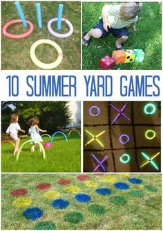 Backyard games for the summer! 10 ideas for activities to get your family laughing, running, and having fun around the house this summer!