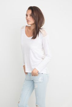 NOLAN LACE EMBROIDERED TOP