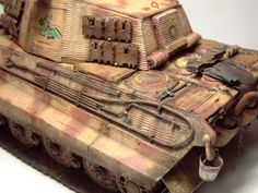 Zoom avant (dimensions réelles: 1000 x Tiger Ii, Bengal Tiger, German Names, World War Two, Two By Two, King, Gun Turret, Colors, Model Building