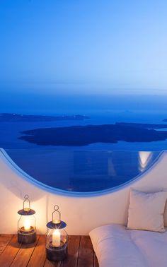 There are sea views, and then there's this sea view: Native Eco Villa, Santorini, Greece.