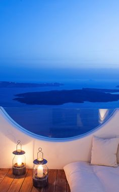 There are sea views, and then there's this sea view: Native Eco Villa, Santorini, Greece.