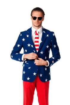 American Flag Suit - because who doesn't want a USA suit?  #GOBIG 'Merica