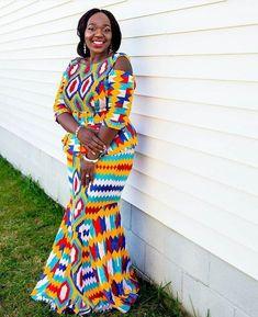 Kente Wedding Dress Styles of 2019 Latest African Fashion Dresses, African Print Dresses, African Dresses For Women, African Print Fashion, African Wear, African Attire, African Outfits, African Prints, African Style