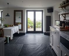 Somerset Cottage - farmhouse - Kitchen - South West - Inspired Design Ltd Flagstone floor House Design, Spacious Kitchens, Slate Flooring, Country Cottage, English Country Cottages, Farmhouse Flooring, Country Kitchen, Flooring, Somerset Cottage