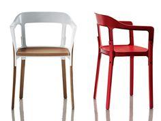 PARA A NOSSA COLEÇÃO: A Steelwood Chair, criada pelos designers franceses Erwan and Ronan Bouroullec, ou simplesmente Os irmãos Bououllec.  #chair    #interiordesign    #furnituredesign    #france