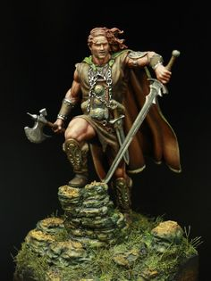 Retailer of military & fantasy figures, miniatures models & busts. Ancient Romans, Ancient Art, Celtic Warrior Tattoos, Brian Boru, Irish Costumes, Irish Warrior, Celtic Warriors, Doll Painting, Irish Celtic