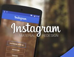 A #redesign of Instagram according to #MaterialDesign. So many good ones lately!