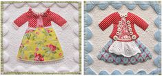 Little Girl Dresses, Little Girls, Girls Dresses, Dolly Dress Up, Quilting Patterns, Applique Quilts, Fabric Paper, Doll Houses, Aprons