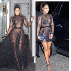 Crazy how made this gown in 3 days! And all we had to do was unbutton it and turn it into a party dress! 💃🏽💃🏽💃🏽💃🏽thank u from the bottom of my heart Thai & for this dope creation! Sexy Outfits, Sexy Dresses, Fashion Outfits, Women's Fashion, See Thru Dresses, Dinner Wear, Trends, Sweater Set, Curvy Fit