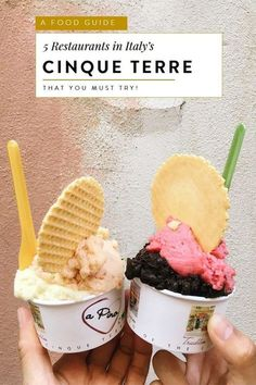 Foodies will love Cinque Terre for it's pesto pasta, fresh seafood and decadent gelato. Read this complete food guide for Cinque Terre's best restaurants! Pesto Pasta, Italian Desserts, Italian Recipes, Italian Dishes, Fresh Seafood, Seafood Pasta, Italy Food, Vegan, International Recipes