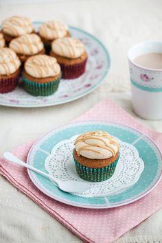 Salted Caramel Mocha cupcakes by Irina Kupenska, via Behance