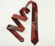 Wool plaid tie