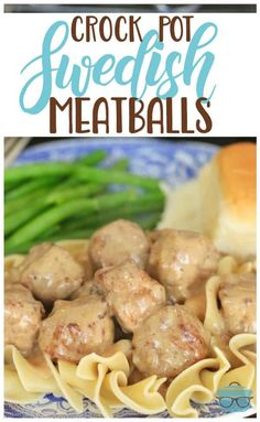 This Easy Crock Pot Swedish Meatball Recipe is the perfect dinner solution for a busy weeknight! Crock Pot Swedish Meatballs is an easy recipe made with frozen meatballs, sour cream, steak sauce, cream of mushroom and seasonings. Crock Pot Slow Cooker, Crock Pot Cooking, Slow Cooker Recipes, Beef Recipes, Cooking Recipes, Crockpot Meals, Crockpot Recipes For Parties, Cooking Ham, Weeknight Recipes