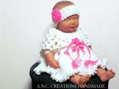 Shop for crochet on Etsy, the place to express your creativity through the buying and selling of handmade and vintage goods. Little Bow, Little Princess, Crochet Girls, Crochet Baby, Warm Dresses, Girls Dresses, Baby Girl Items, Cute Baby Clothes
