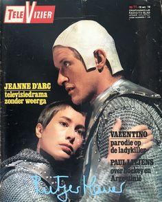 "Rutger Hauer and Josine van Dalsum in Dutch tv-drama series ""Jeanne d'Arc"" (1978) -Televizier Magazine 1978 #11 - autographed by RH"
