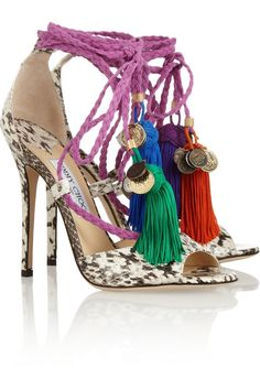 Jimmy Choo | Dream rope-tie elaphe sandals