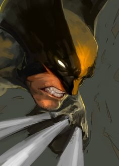 Wolverine ( X-Men ) // Marvel // Art Marvel Wolverine, Ms Marvel, Logan Wolverine, Marvel Comics Art, Bd Comics, Marvel Heroes, Avengers Comics, Captain Marvel, Comic Book Characters