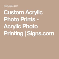 Custom Acrylic Photo Prints - Acrylic Photo Printing | Signs.com
