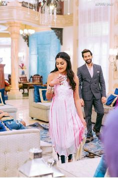 """""""This was just Aww! Idont belive if this scene really happened! Anika Dresses In Ishqbaaz, Anika Ishqbaaz, Cute Celebrities, Celebs, Nakul Mehta, Surbhi Chandna, Cute Love Couple, Desi Wear, Bridesmaid Dresses"""