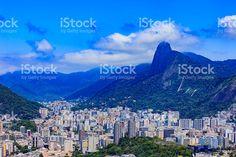 Rio de Janeiro, Brazil: looking towards Corcovado, from Sugarloaf royalty-free stock photo Vivid Colors, Colours, My Photos, Royalty Free Stock Photos, America, Beach, Prints, Image, Vibrant Colors