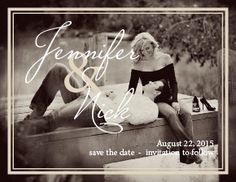 The Formal Photo Save-the-Date Card