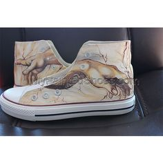 Creation of Adam Custom High-top Painted Painted Canvas Shoes, Hand Painted Shoes, Galaxy Shoes, Types Of Painting, Paint Cans, Top Shoes, High Tops, Converse, Sneakers