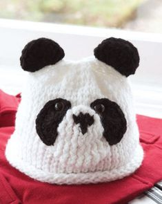 Believe it! This panda hat is a loom knitting pattern.