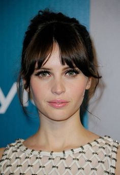 Felicity Jones. thick lashes!