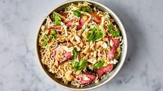 Ramen with Steak and Sesame-Ginger Dressing Recipe | Bon Appetit