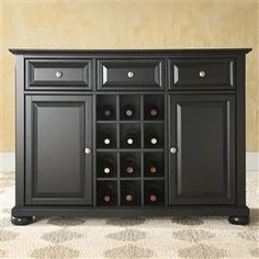 Black Dining Room Buffet Cabinet