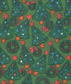 Vintage Christmas Wrapping Paper Decorated Trees 1960s Gift Wrap by SandyCreekCollectables for $4.00