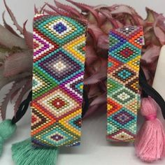 Miyuki - My Recommendations Peyote Stitch Patterns, Beaded Bracelet Patterns, Bead Loom Patterns, Beading Patterns, Bead Loom Designs, Native Beadwork, Peyote Beading, Seed Bead Jewelry, Schmuck Design