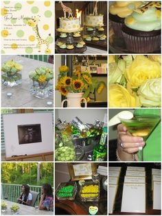 green and yellow giraffe baby shower...perfect For Jenna someday!