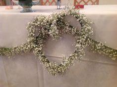 Gypsophila handmade heart by Muscari whites florist, #muscariwhites
