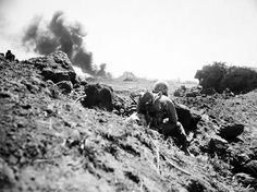 Battle Scenes of Marines on Iwo Jima