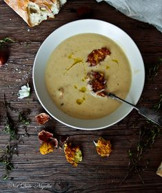 Potato Leek Soup with Parsnip Zucchini Fritters