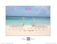 Here is our Sugar and Sand wedding decor we created for Atlantis Resort's Love Wedding Lookbook.  Love the chairs!