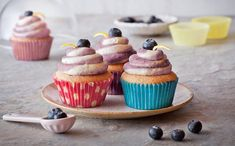 Zesty and light, these blueberry and lemon cupcakes are a simple summer essential that taste just as good as they look.