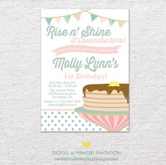 66 best pancake partybreakfast birthday images on pinterest in 2018 pancakes and pajamas birthday party invitation diy printable or printed on etsy 1300 filmwisefo