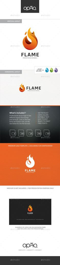 Flame Logo #inspiration #business #startup • Download ➝ https://graphicriver.net/item/flame-logo/18707090?ref=pxcr