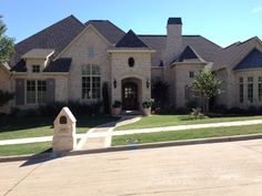 Country French :: McKinney, Texas :: 3 bedroom suites down, 1 bedroom suite + game room up